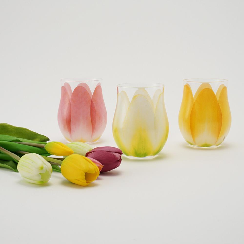 チューリップグラス3種