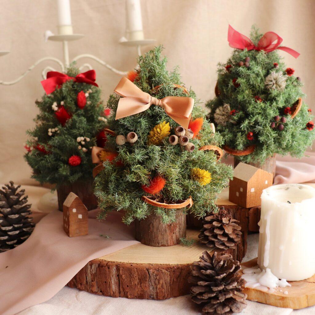ドライフラワークリスマスツリークリスマスドライフラワーデコレーションエクスチェンジギフトホームデコレーション