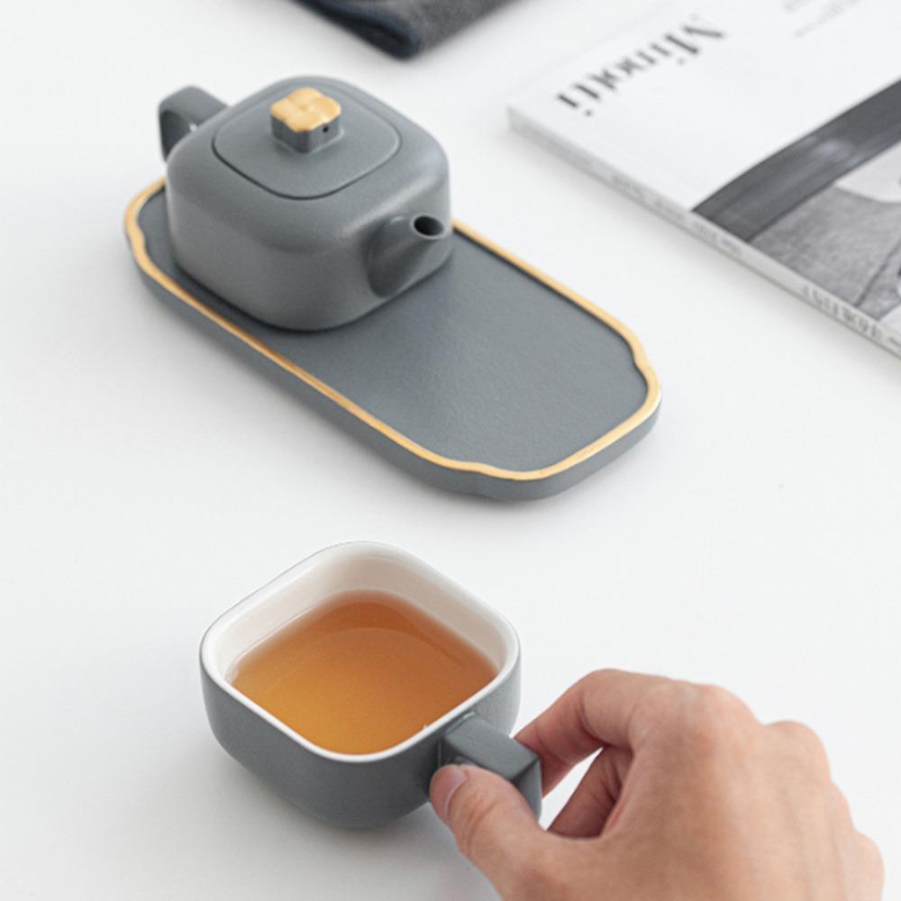 ティーポット、カップ、カップカバー、茶盆、茶巾故宮宮廷文化   茶器セット