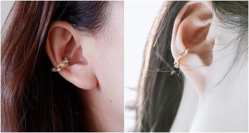 「可調校式」及「不可調校式」耳骨夾 Ear cuff