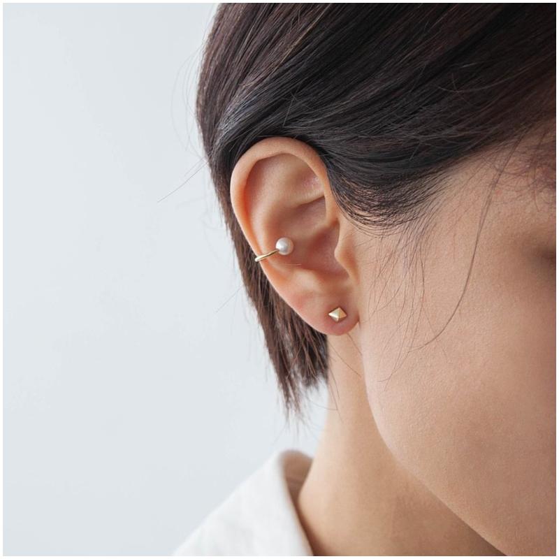 925 純銀天然珍珠 耳骨夾 Ear Cuff