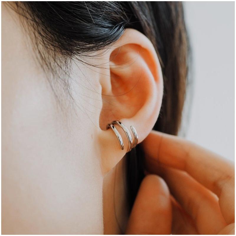 純銀多層次 耳骨夾 Ear Cuff