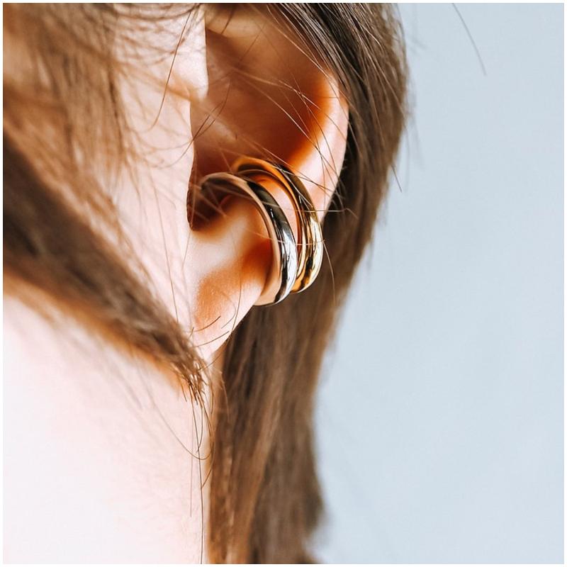 純銀不規則流線形 耳骨夾 Ear Cuff