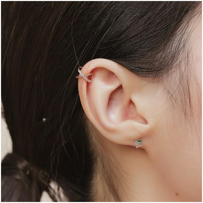 925 純銀交織 耳骨夾 Ear Cuff