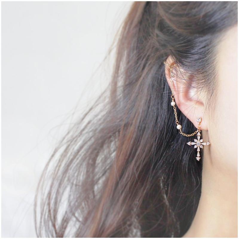 純銀珍珠 耳骨夾 Ear Cuff