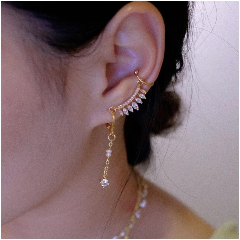 18K珍珠 耳骨夾 Ear Cuff