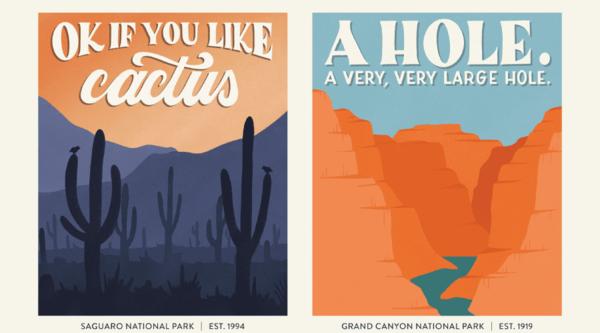 美國國家公園 插畫雜誌封面
