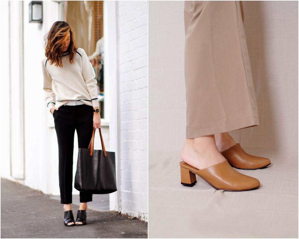 只要選對高跟拖鞋的款式,即可配搭出高雅又莊重的上班高跟拖鞋穿搭!