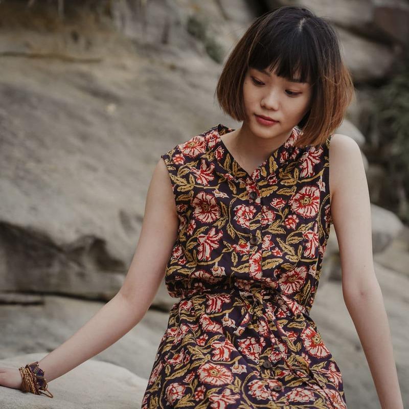 2021夏天穿搭 連身裙 連身裙穿搭 碎花