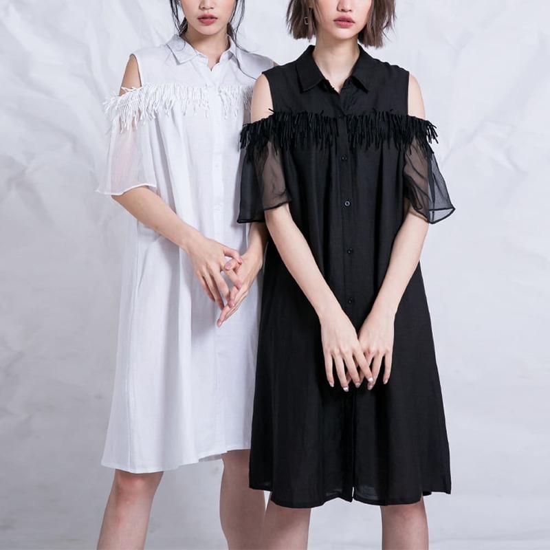 2021夏天穿搭 連身裙 連身裙穿搭 襯衫連身裙