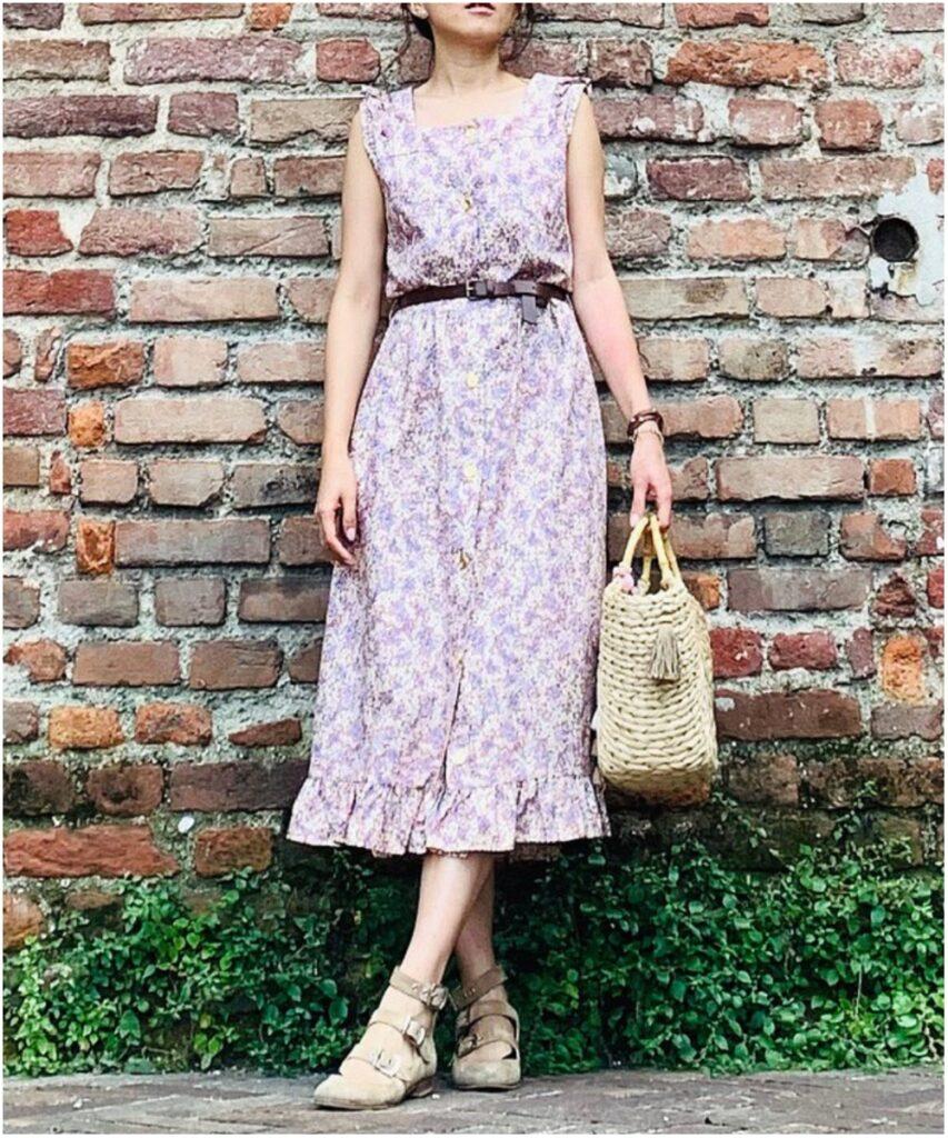 70 年代義大利製碎花長裙