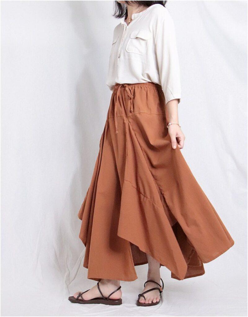 多角造型長裙