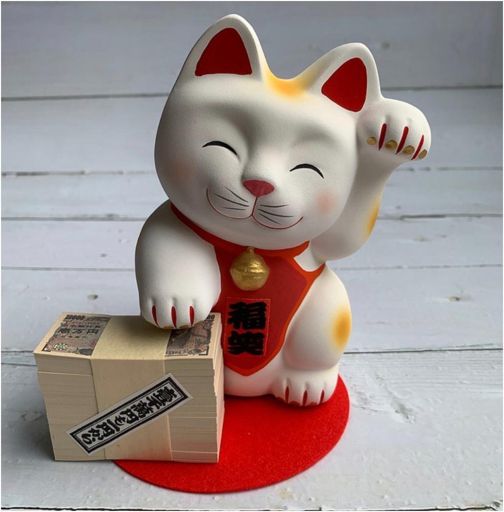 笑福 招財貓 存錢筒