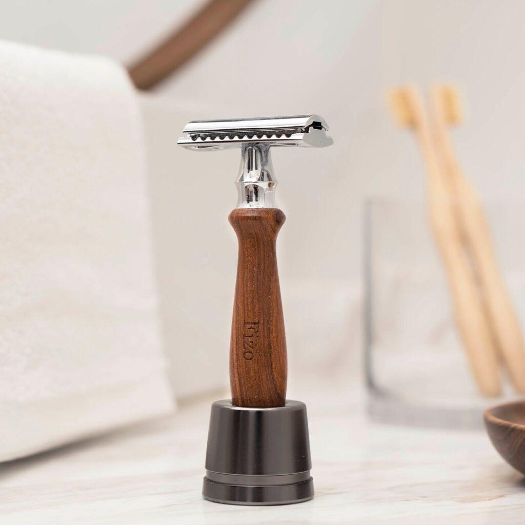 【客製化】可刻字木製男士刮鬍刀