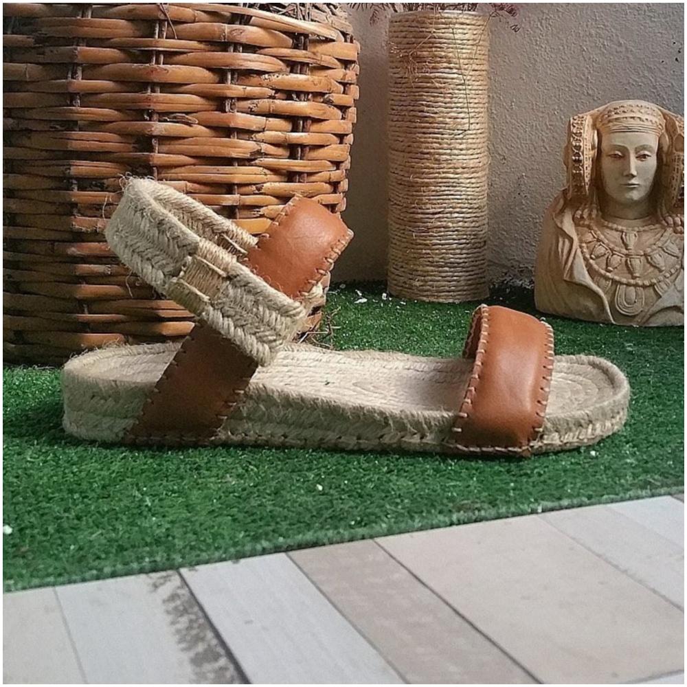 草編涼鞋(