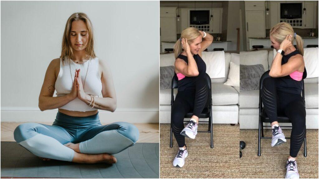 在午飯時間或在家工作期間,進行簡單的坐運動可憑著輕度的運動量,鍛鍊肌肉使身形更緊實好看!
