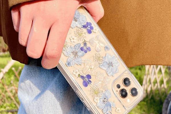 美美的永生乾燥壓花 客製化手機殼