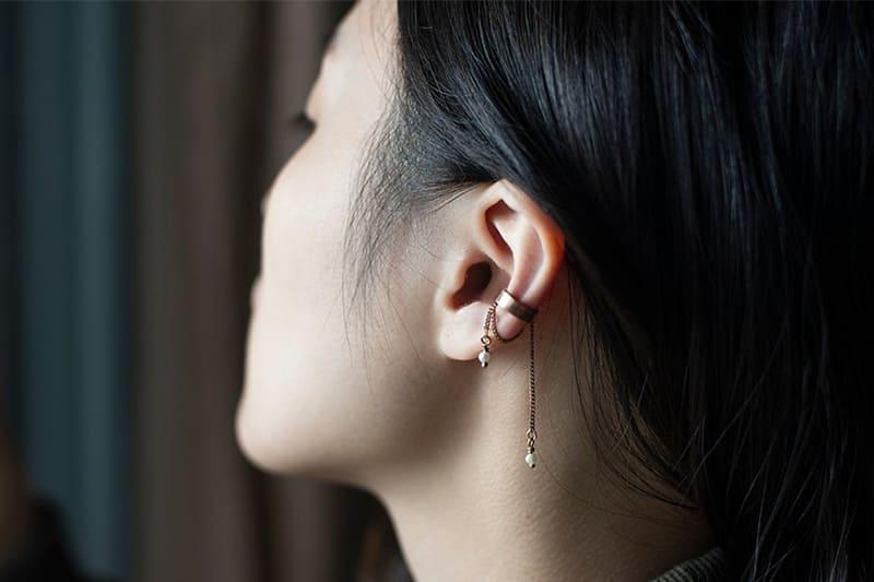 鏈條式耳骨夾式耳環