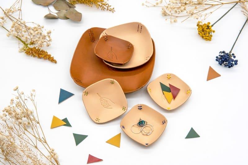 飾品收納盤推薦:皮革飾品盤