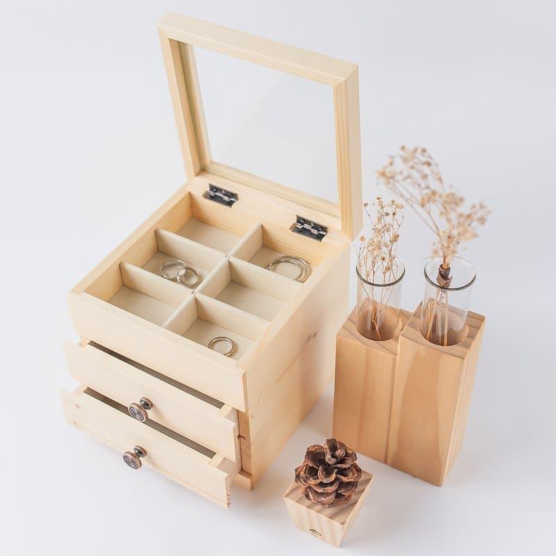 大型首飾收納和推薦:木製首飾盒