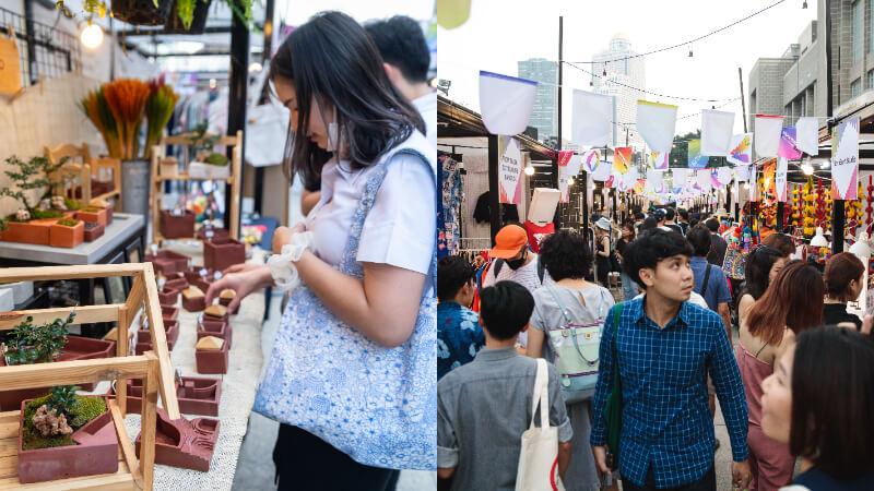 一年一度的曼谷設計師週 Bangkok design week 有豐富的市集活動。