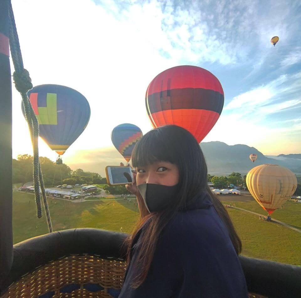 在臺灣國際熱氣球嘉年華 實際搭熱氣球體驗