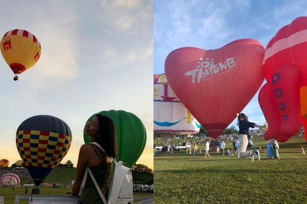 在臺灣國際熱氣球嘉年華 拍美照