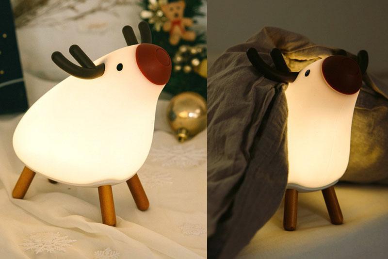 非常適合小孩的可愛麋鹿小夜燈。