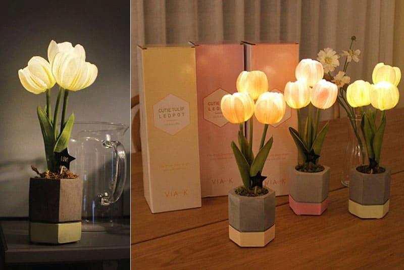 鬱金香造型小夜燈