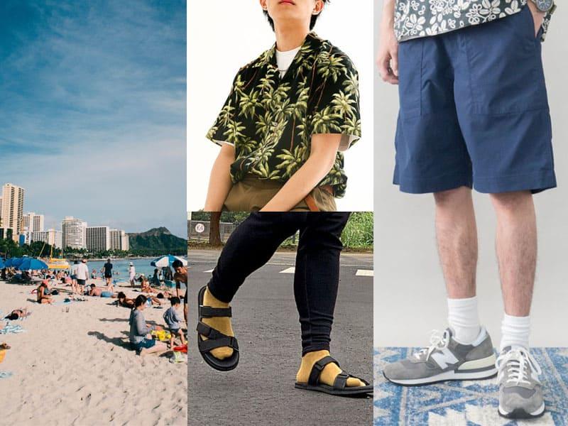 海邊約會穿搭-男生悠閒渡假風穿搭
