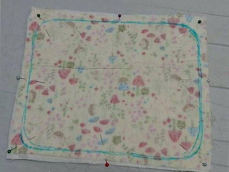 DIY背巾口水巾圖解步驟2
