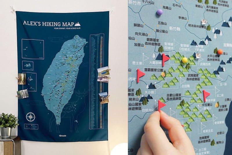 台灣百岳地圖深受很多登山愛好者喜愛。