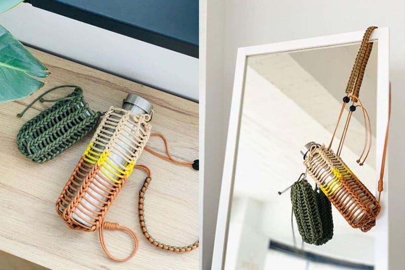 水壺揹包附加手機袋 登山斜背包