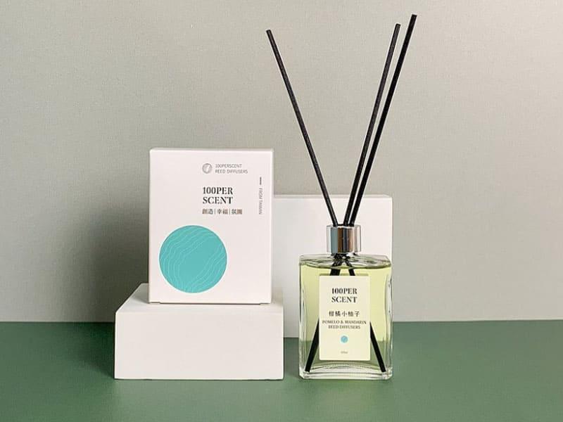夏季擴香瓶推薦-柑橘小柚子-100PERSCENT 氣味生活