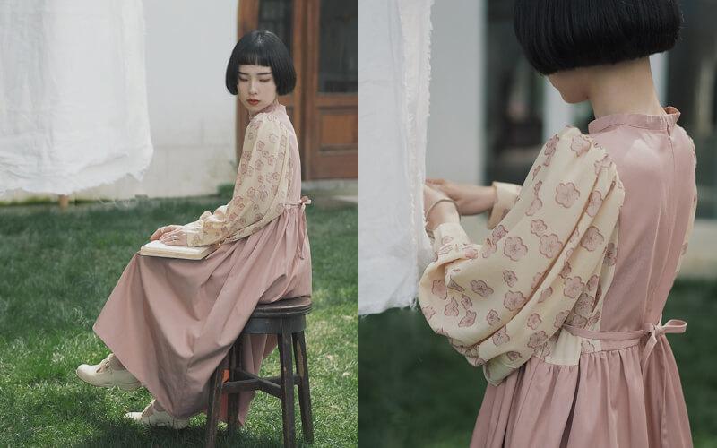 女生婚禮穿搭:適合戶外美式婚禮的 碎花洋裝