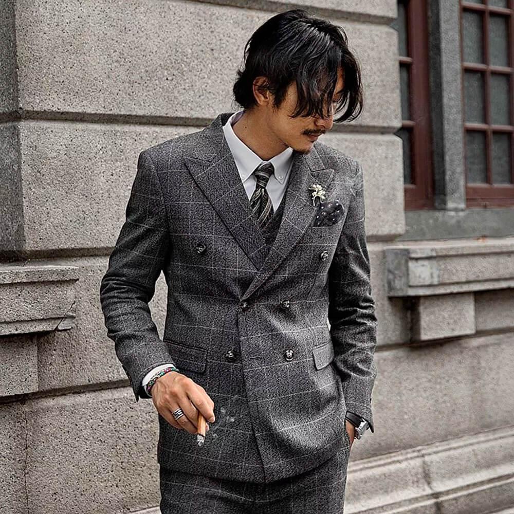 男生婚禮穿搭:復古西裝套裝