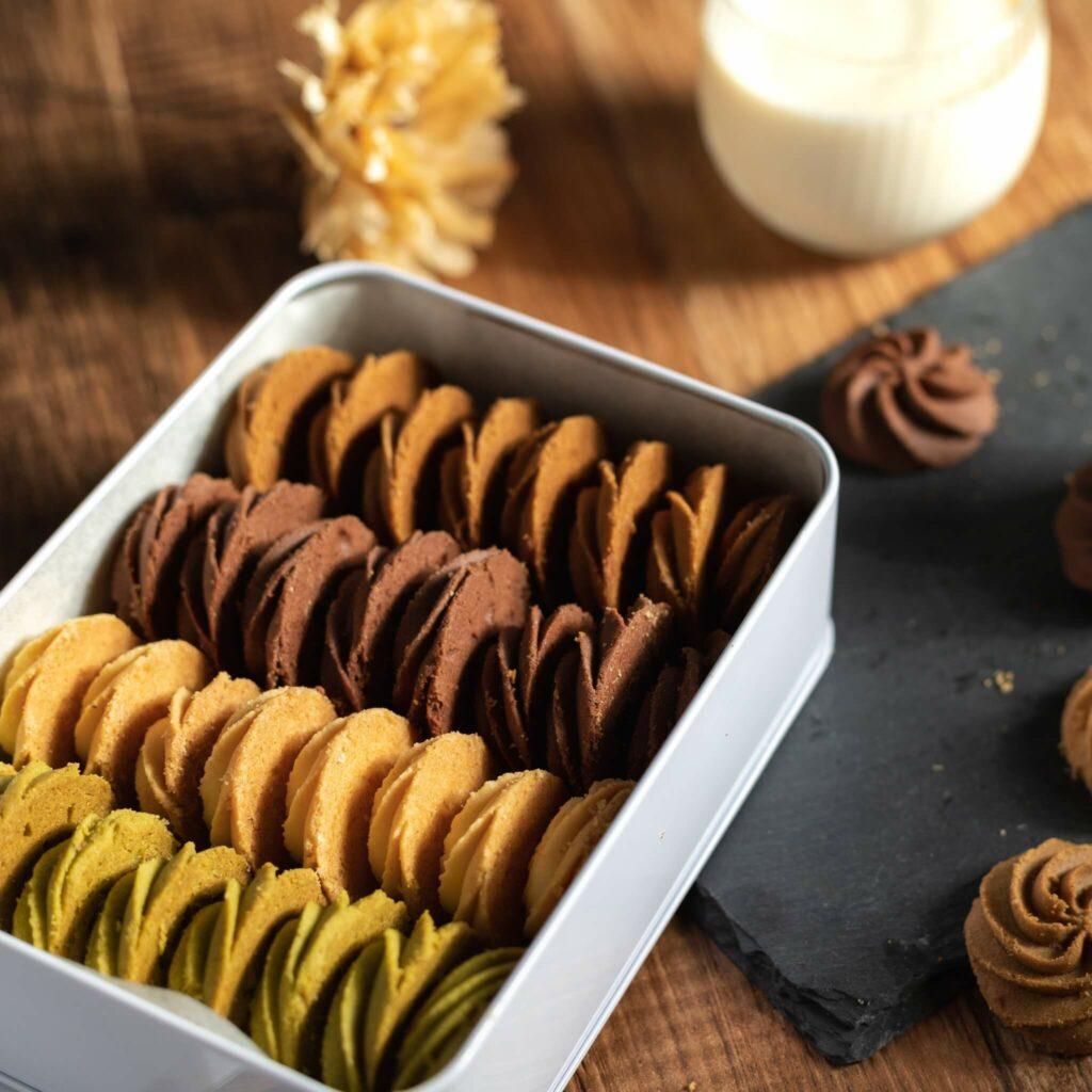 手工餅乾推薦:抹茶 巧克力 咖啡綜合手工餅乾禮盒