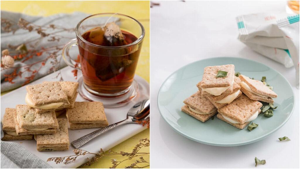 手工餅乾推薦:牛軋米餅,三星蔥、鹹蛋黃口味