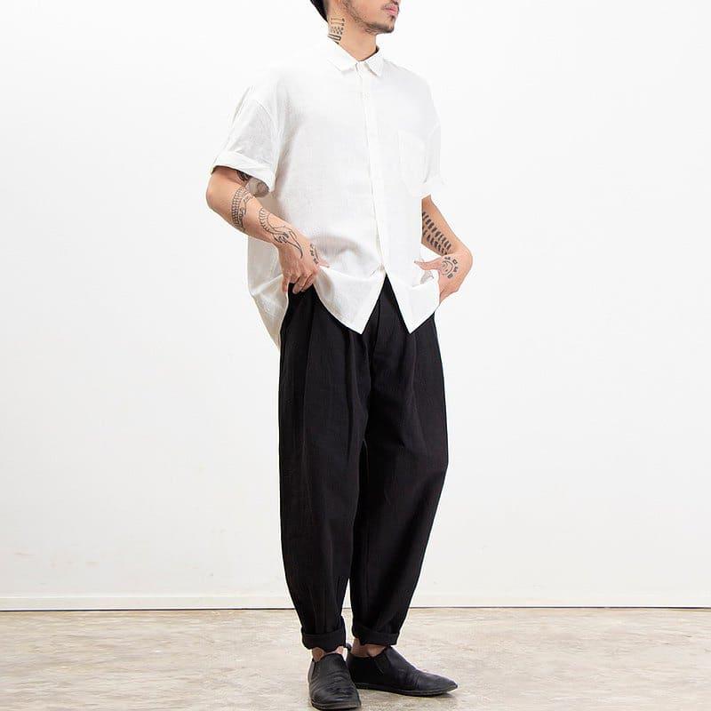 白襯衫穿搭男生