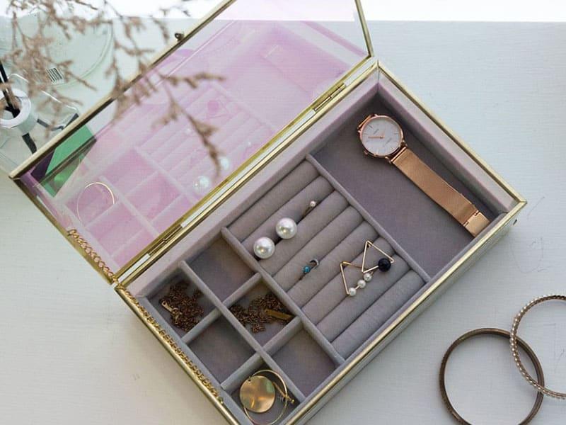 耳環收納盒推薦-客製化玻璃珠寶盒
