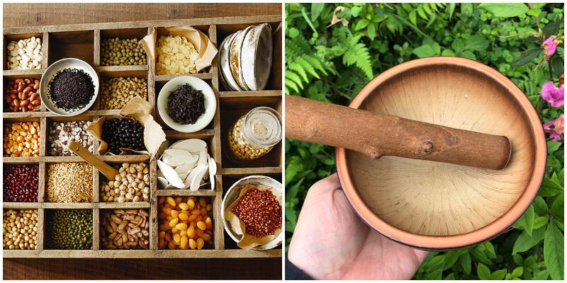 製作擂茶的材料與器材