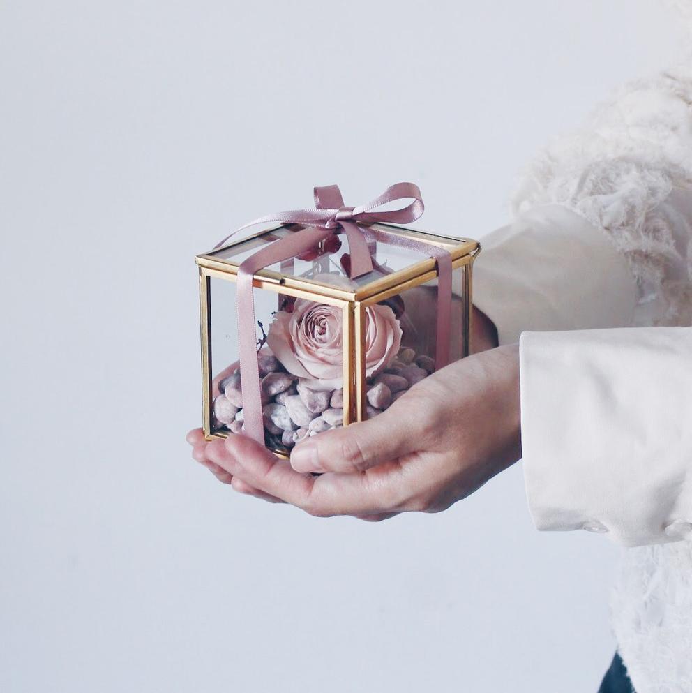 2021情人節禮物 女友禮物 七夕情人節禮物 乾燥花大豆蠟燭