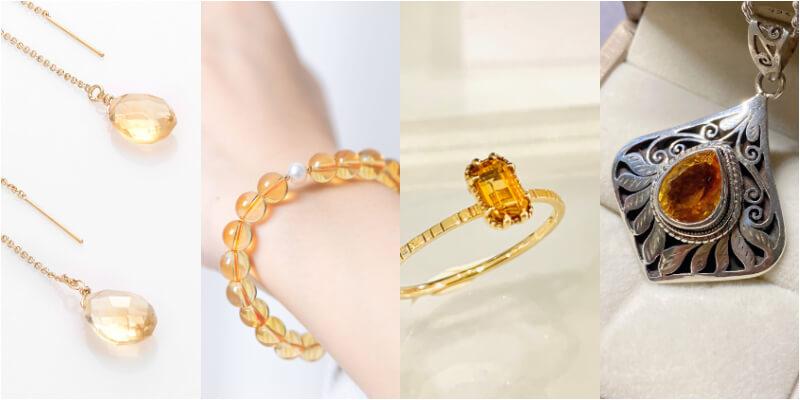 黃水晶可以依照顏色來區分等級