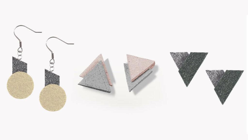 除素食皮革包包外,VOOME 還有設計一系列可愛的環境友善耳環。