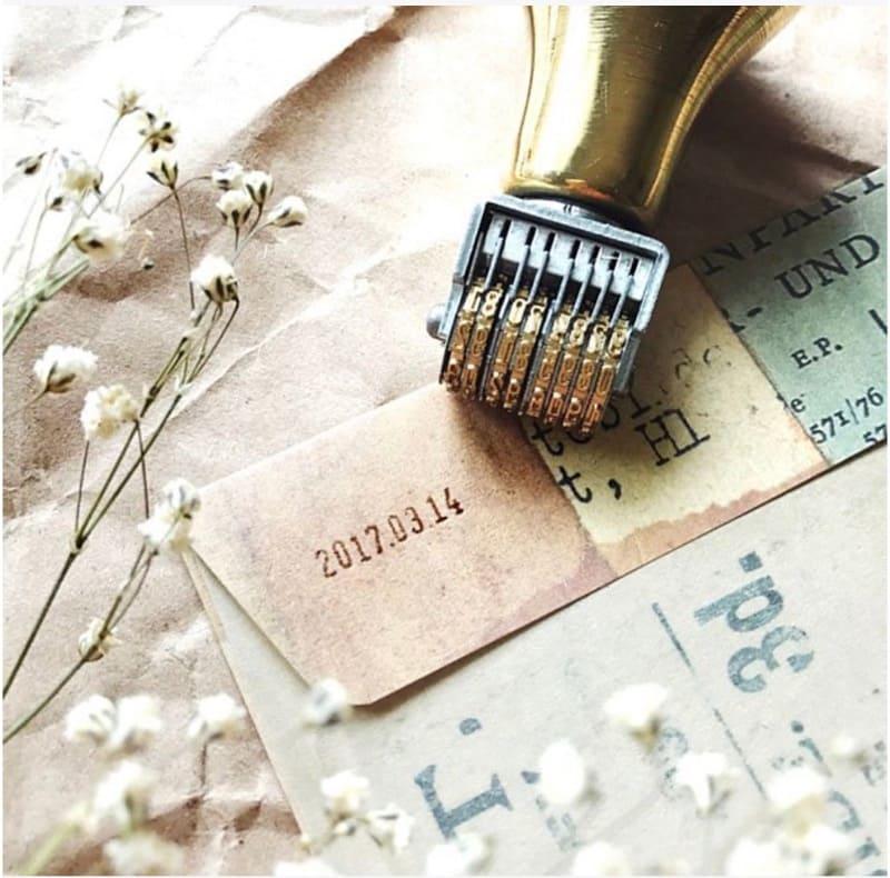 手帳設計素材:日期印章