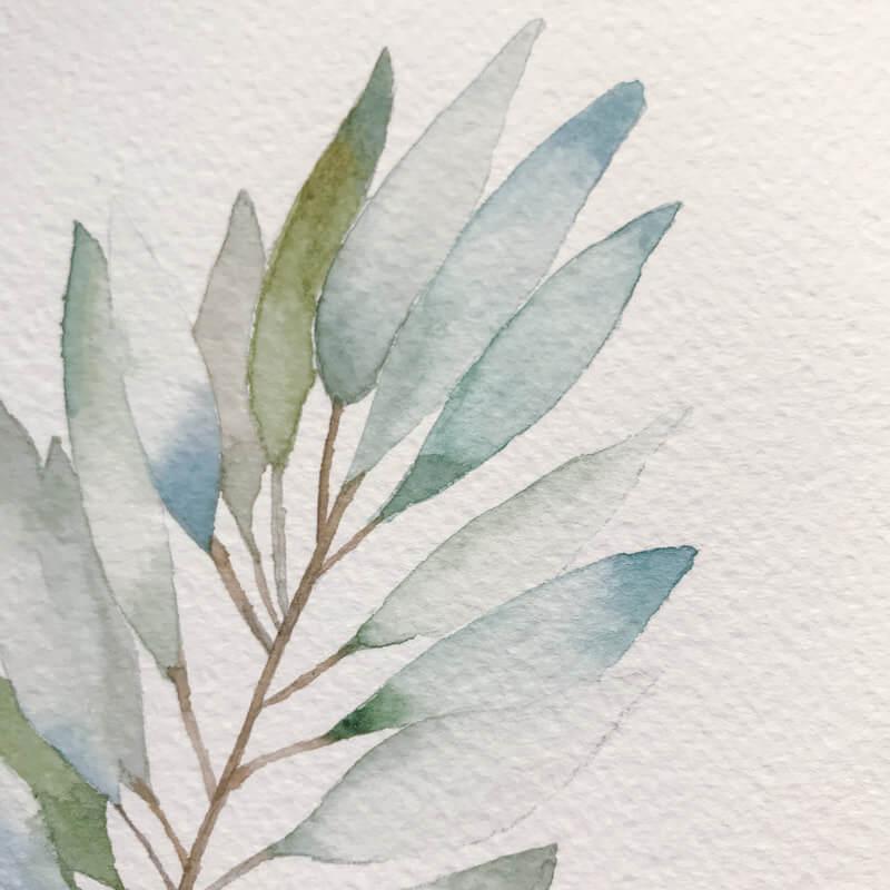 適合中粗目水彩紙的繪畫風格