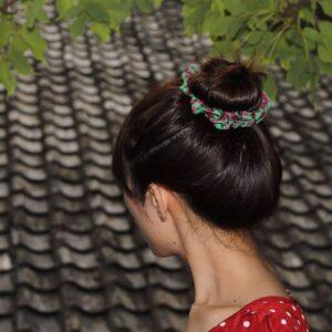 印花包頭髮飾