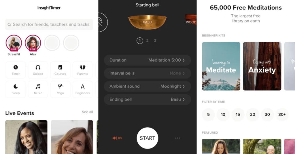 冥想 app推薦 Insight Timer