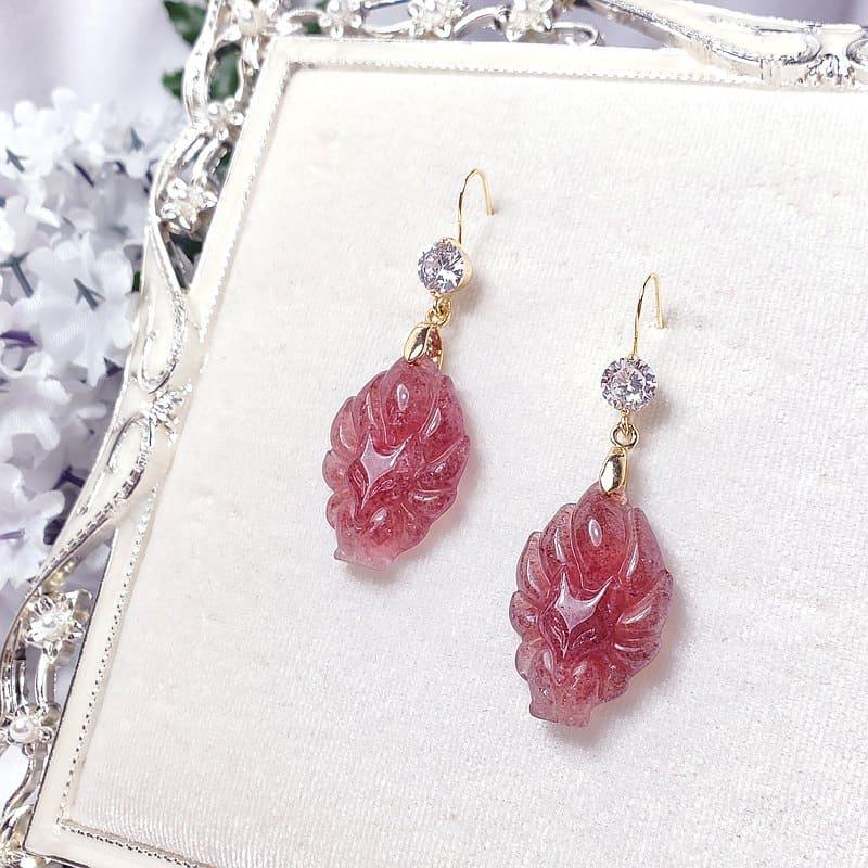 草莓晶耳環推薦