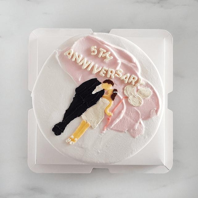 繪圖客製化生日蛋糕